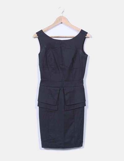 Vestido negro escote trasero Suiteblanco