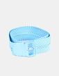 Cinturón azul trenzado NoName