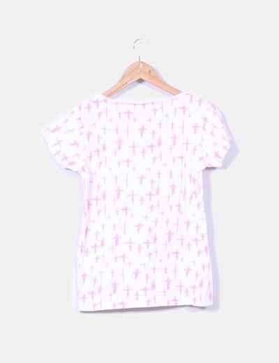 Camiseta blanca print cruces