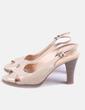Zapatos beige de tacón acharolados Tex Woman