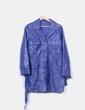 Abrigo azul klein de piel NoName
