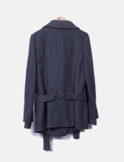 Abrigo gris doble botonadura