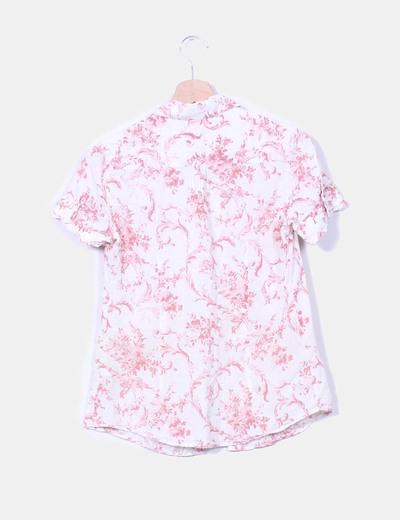 Blusa cruda floreada texturizada