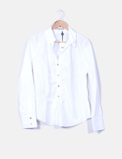 Purificación García Camisa blanca lisa (descuento 74%) - Micolet af8b4a48641