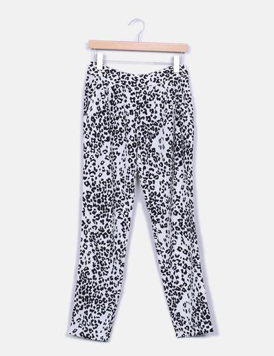 Pantalon leopoardo Mango