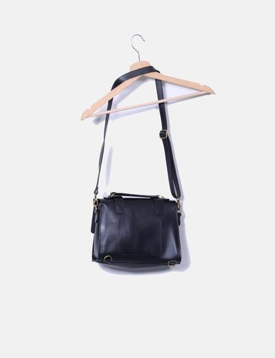 Bolso satchel negro