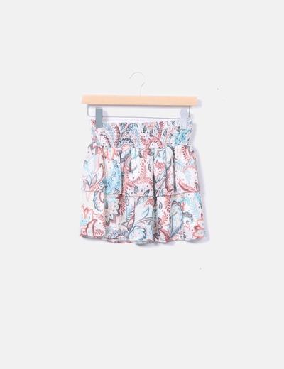 1ed756493 Lefties Falda estampada con cintura elástica (descuento 77%) - Micolet