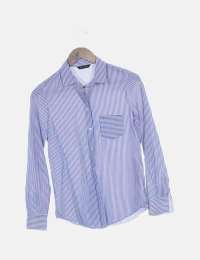 Camisa azul rayas