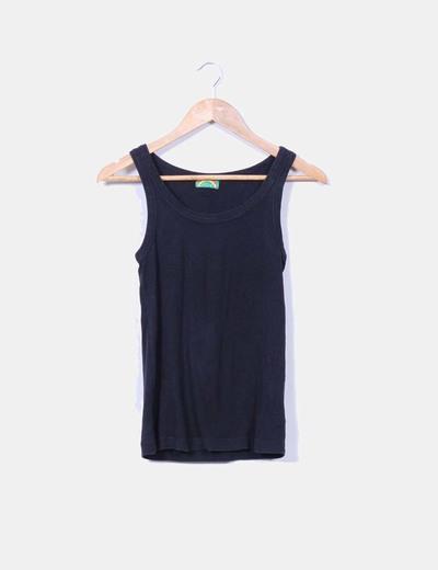 Camiseta negra básica Topshop