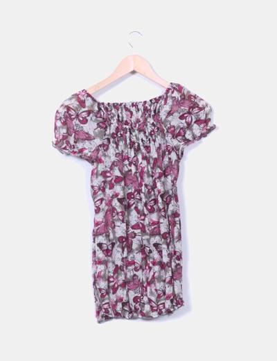 Camisa print mariposas