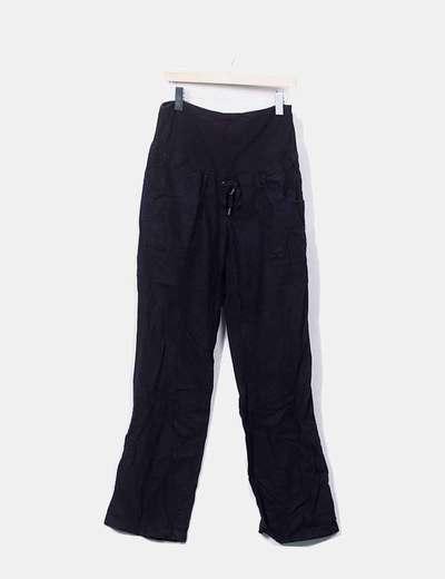 52dd4c8b6 H M Pantalón premama negro (descuento 75%) - Micolet