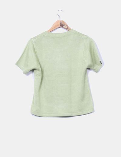 Jersey punto verde manga corta