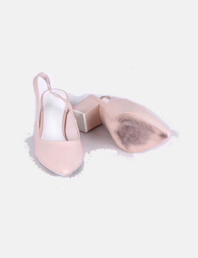 Zapatos destalonados nude