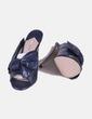 Zapato azul destalonado con lazo Uterqüe