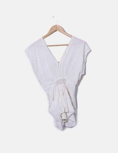 Blusa drapeada blanca Whistles