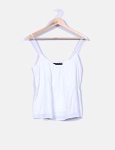Blusa branca com alças Mango 33ec93ecda8