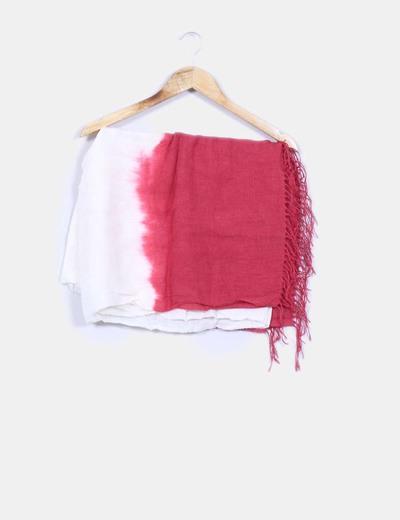 Pañuelo bicolor efecto desteñido  Made in Italy