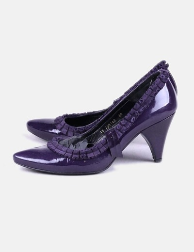 Zapato morado combinado Lodi
