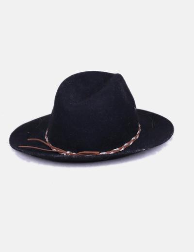 Sombrero fieltro negro ala ancha Primark