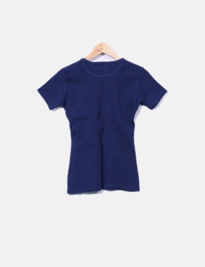 Camiseta de punto azul