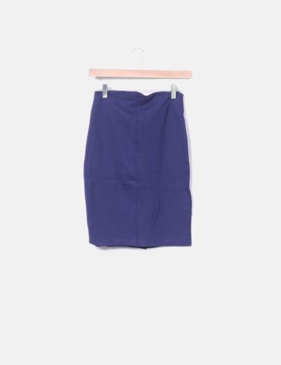 Falda tubo azul marino