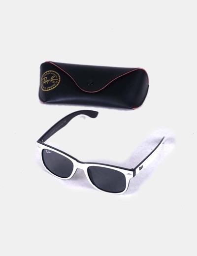 Ray Ban Gafas de sol cristal oscuro y montura blanca (descuento 73 ...