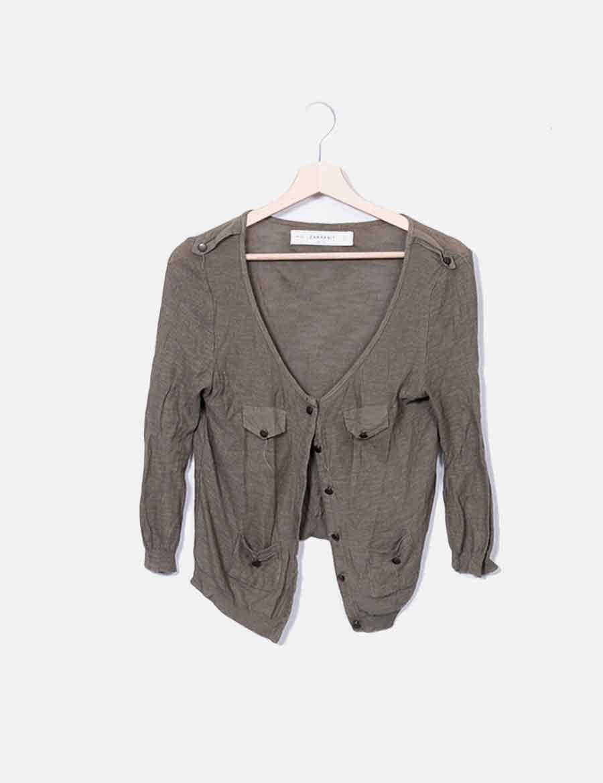 Chaqueta Punto Y Mujer Khaki Baratos Zara De Online Abrigos Cqqpd 3fa468a45576