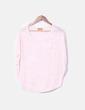 Camiseta rosa palo semitransparente de manga corta NoName