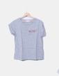 Camiseta gris manga corta Zara