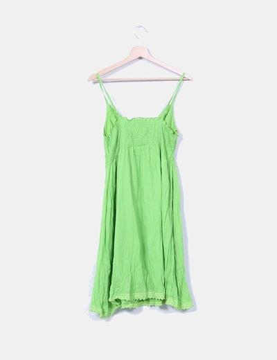 Vestido verde de tirantes