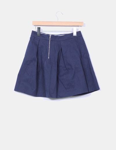 Mini falda texturizada