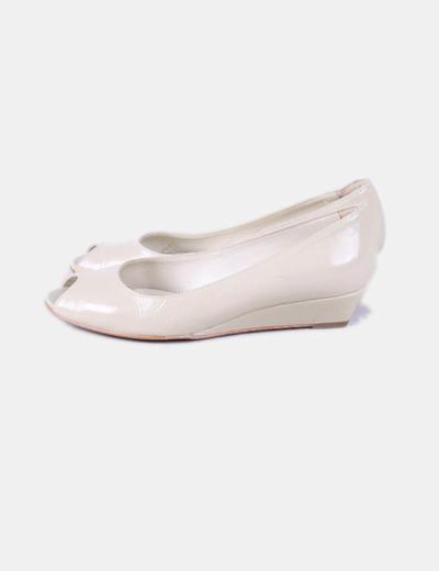 Chaussures beiges de brevets Zendra