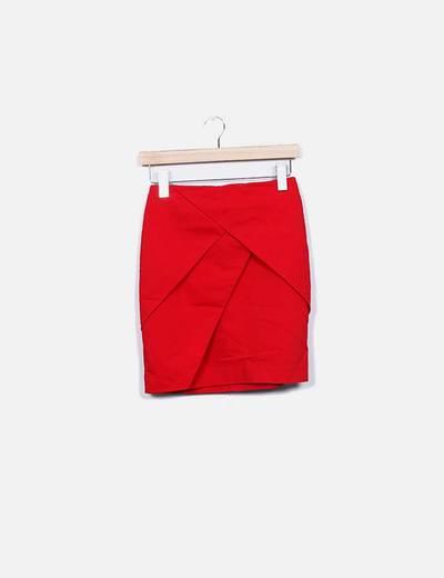 Minifalda roja H&M
