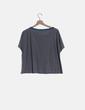 Camiseta manga corta gris Pull&Bear