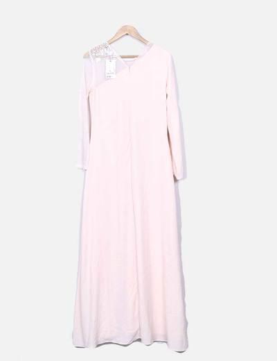 Suiteblanco Rosa Pastell Maxikleid kombiniert (Rabatt 74 %) - Micolet a21726598e