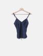 Top lencero satinado azul marino DKNY