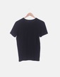 Camiseta negra print letras Benetton