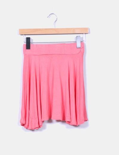 Mini falda coral de vuelo Missguided