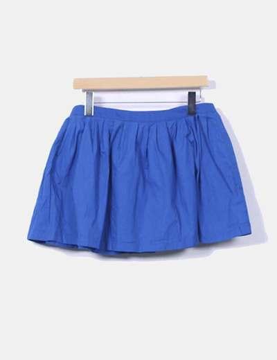 Mini falda azul