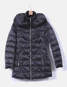 Abrigo plumón acolchado negro Morgan