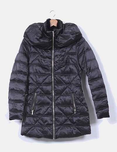 59ef92623 Morgan Abrigo plumón acolchado negro (descuento 36%) - Micolet