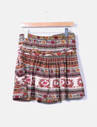 Minifalda estampada Menglu