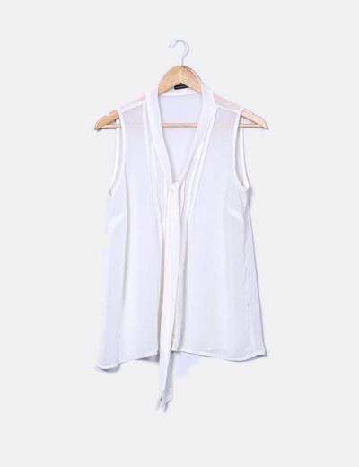 Camisa semitransparente con lazo Primark