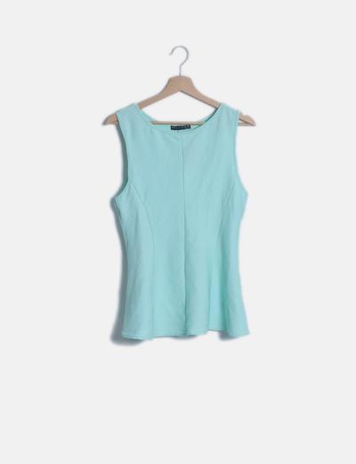 Blusa texturizada aguamarina