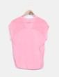 Blusa manga corta rosa Bershka