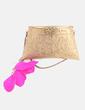 Bolso joya dorado con plumas NoName
