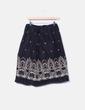 Falda midi negra detalles bordados NoName