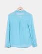 Camisa gasa azul turquesa Bershka