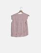 Camiseta satinada rosa Maje