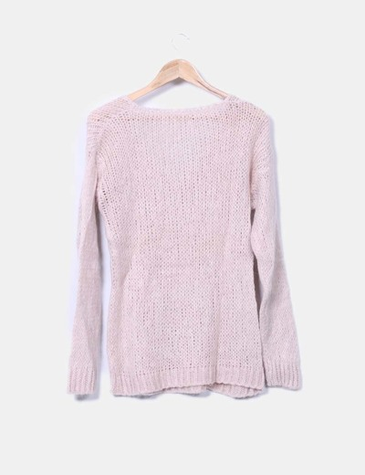 Jersey punto rosa crepe